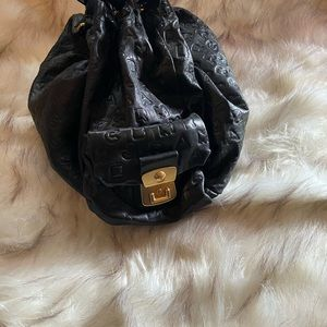 Marc Jacob signature black leather bag